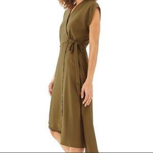 Topshop Asymmetrical Wrap Dress